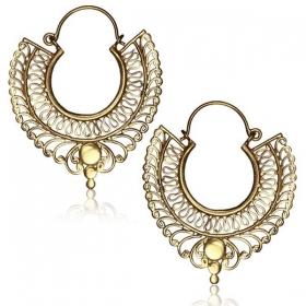 """""""Saay"""" Brass earrings"""