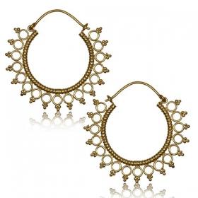 """Sayori"" Brass earrings"