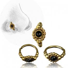 ''Zeya'' Brass nose ring