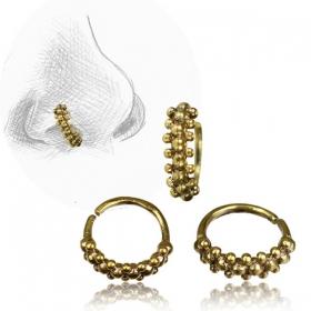 ''Idavoll'' Brass nose ring