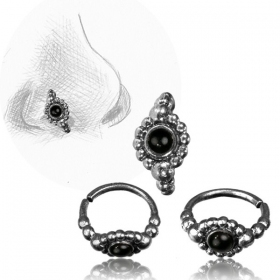 ''Zeya Pali'' silver nose ring