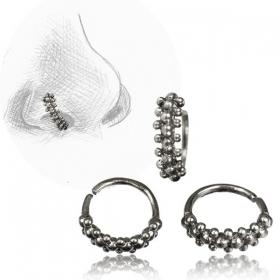 ''Idavoll Pali'' silver nose ring