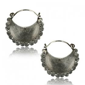 ''Ainu Pali'' white brass earrings