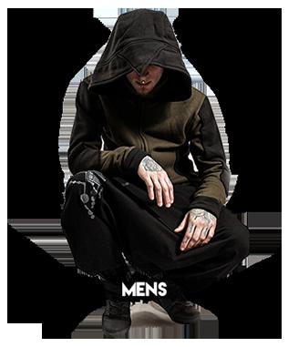 alternative clothes for men, underground clothing