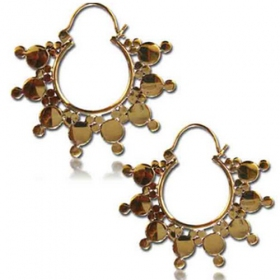 "\""aniya\"" brass earings"