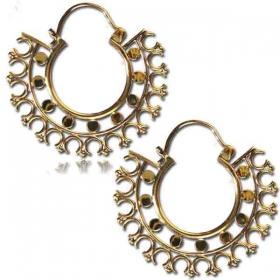 "\""Bhotia\"" Brass earings"