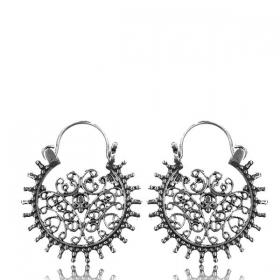 "\""Laksha\"" Silver earrings"