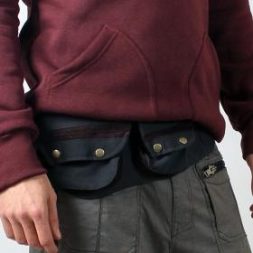 "Money belt \""lakhpa\"", black brown"