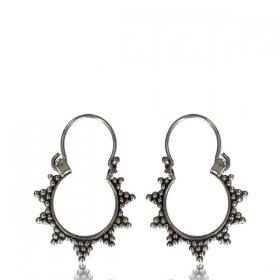 "\""Sadhvi\"" Silver earrings"