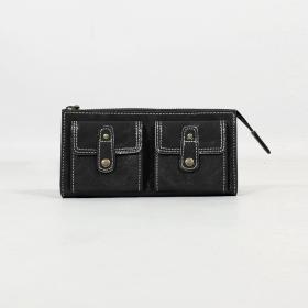 \'\'Aishani\'\' fake leather wallet, Black