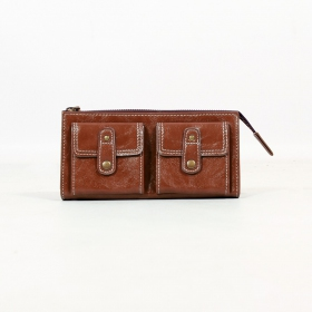 \'\'Aishani\'\' fake leather wallet, Brown