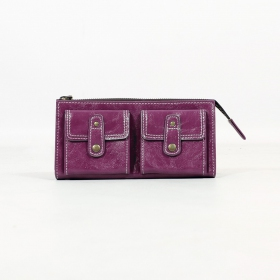 \'\'Aishani\'\' fake leather wallet, Purple