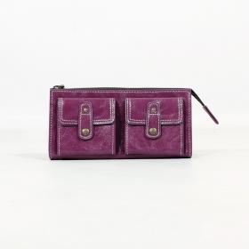 \'\'Aishani\'\' fake leather wallet, Purple
