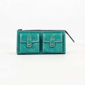 \'\'Aishani\'\' fake leather wallet, Turquoise