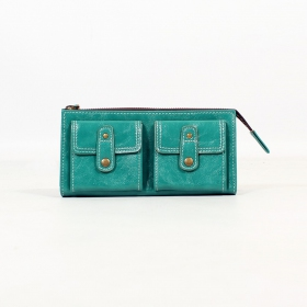 \'\'Aishani\'\' fake leather wallet, Turquoise