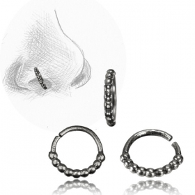 \'\'Alrek Pali\'\' silver nose ring