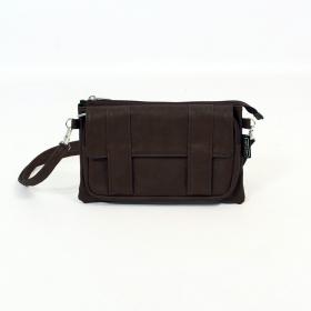 \'\'Amiya\'\' 2in1 purse/waist bag, Dark brown