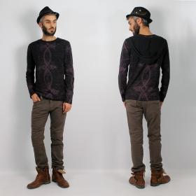 \'\'Atlantic\'\' long-sleeved shirt, Black