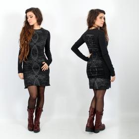 \'\'Atlantis\'\' long sleeved dress, Black