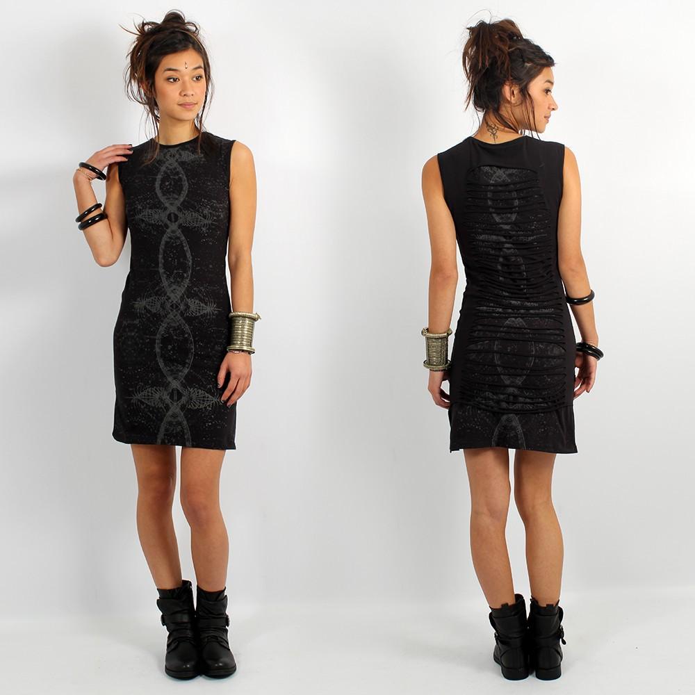 \\\'\\\'Atlantis\\\'\\\' sleeveless dress, Black