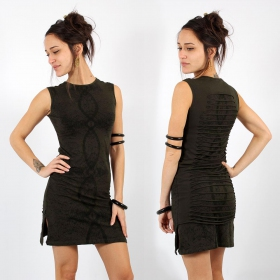 \\\'\\\'Atlantis\\\'\\\' sleeveless dress, Dark khaki