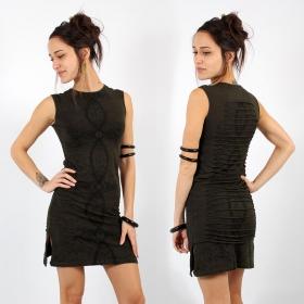 \\\'\\\'Atlantis\\\'\\\' sleeveless dress, Dark khaki