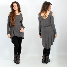 \\\'\\\'Atsuka\\\'\\\' tunic top, Grey