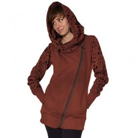 \'\'Calico\'\' zipped hoodie, Hamra mel