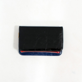 \'\'Chameli\'\' large fake leather wallet, Black
