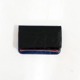 \'\'Chameli\'\' large fake leather wallet, Black
