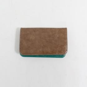 \'\'Chameli\'\' large fake leather wallet, Brown