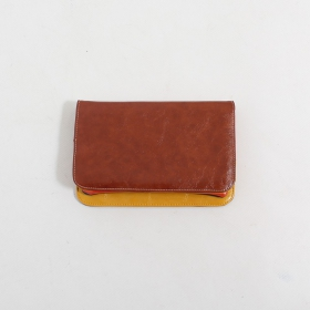 \'\'Chameli\'\' large fake leather wallet, Camel