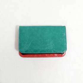 \'\'Chameli\'\' large fake leather wallet, Turquoise