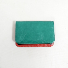 \'\'Chameli\'\' large fake leather wallet, Turquoise