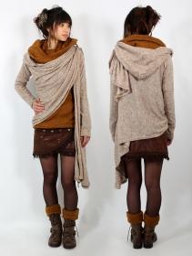 \'\'Danaeriz\'\' thick shawl, Beige
