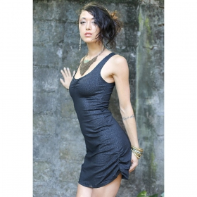 \\\'\\\'Diamond Mayan\\\'\\\' dress, Black