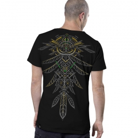 \'\'Dragon Feathers\'\' t-shirt, Black