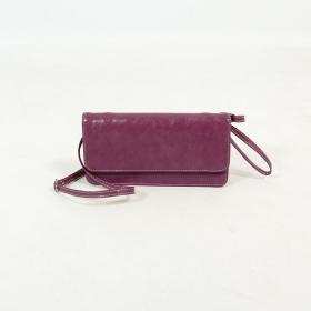 \'\'Elakshi\'\' fake leather purse, Purple