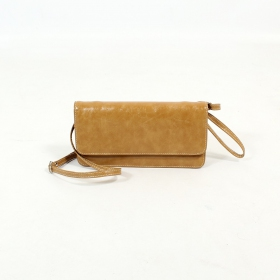 \'\'Elakshi\'\' fake leather purse, Rusty
