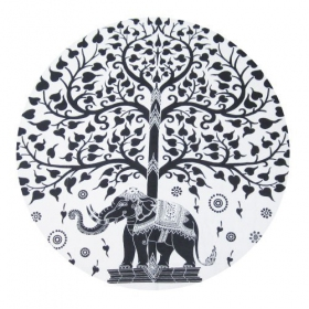 \\\'\\\'Elephant\\\'\\\' roundie hanging, Black and White