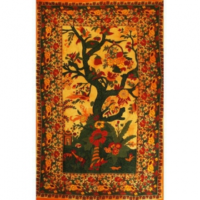 \'\'Floral Tree of Life\'\' hanging, Yellow