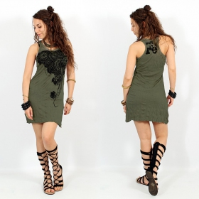 \\\'\\\'Flower\\\'\\\' dress, Khaki