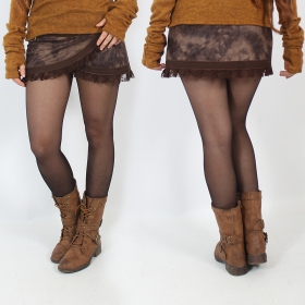 """Funky wrap\"" Skirt, Fake leather brown 2"