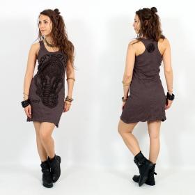 \\\'\\\'Ganesh Face\\\'\\\' dress, Dark purple