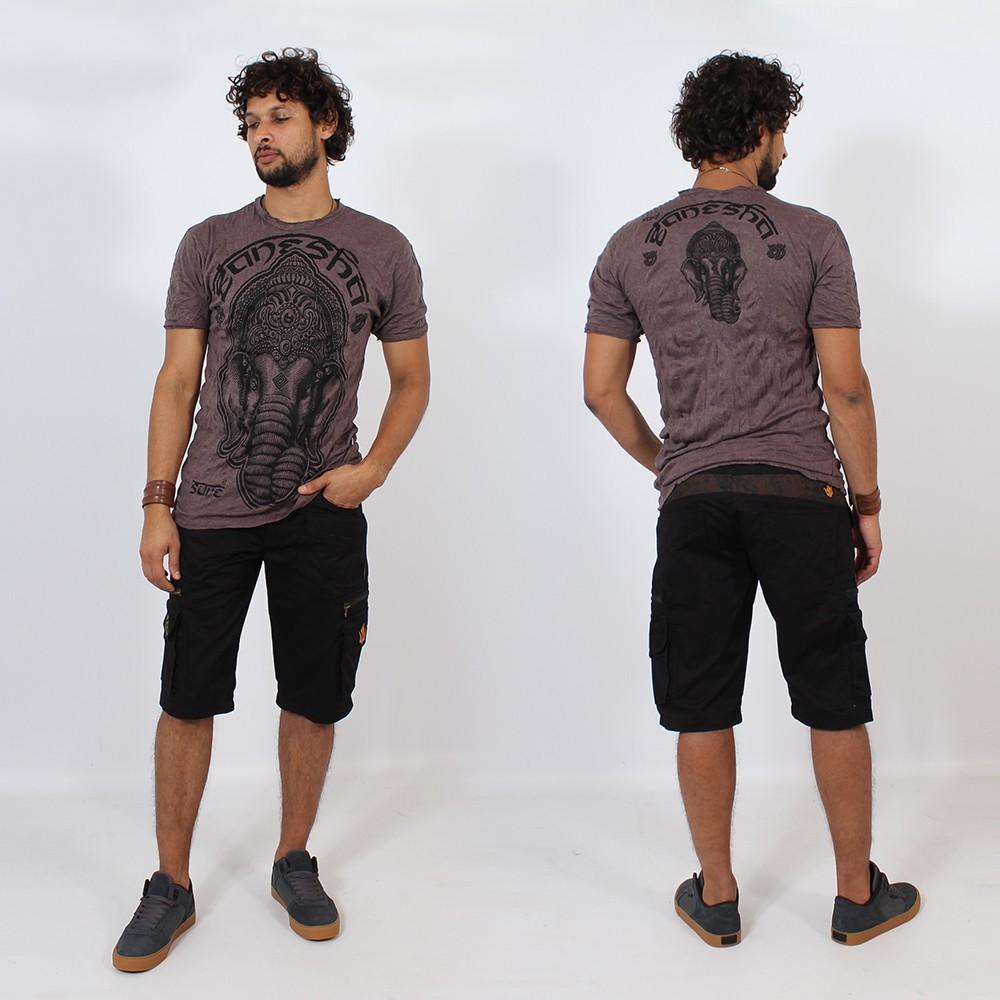 \\\'\\\'Ganesh face\\\'\\\' t-shirt, Purple