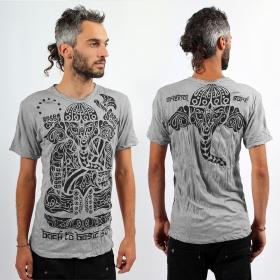 \\\'\\\'Ganesh Tribal\\\'\\\' T-shirt, Light grey