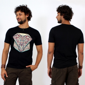 \'\'Geometric\'\' t-shirt, Black
