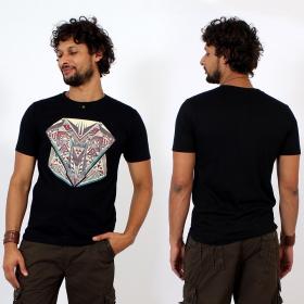 \'\'Geometric\'\' t-shirt, Black