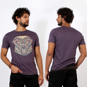 \'\'Geometric\'\' t-shirt, Purple