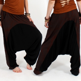 \\\'\\\'Ginie Paisley\\\'\\\' harem pants, Brown and black